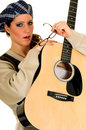 Music performer, guitar Royalty Free Stock Image