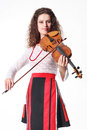 Music performer with violin Royalty Free Stock Photography