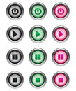 Music Player Buttons part 1/2 Royalty Free Stock Photo