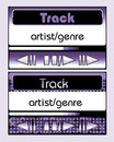Music players for mobile phone, violet Stock Photo