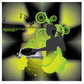 Music poster.DJ turntable Royalty Free Stock Photos