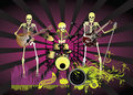 Music poster;Skeleton Stock Image