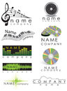 Music recording company logo set Stock Image