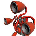 Music robot red Royalty Free Stock Photo