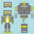 Music robot vector Royalty Free Stock Photo