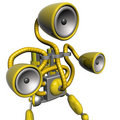 Music robot yellow Royalty Free Stock Photo