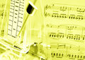 Music score, metronome Royalty Free Stock Photo