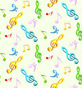 Music seamless backgroun Royalty Free Stock Image