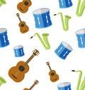 Music seamless pattern