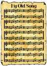 Music sheet background Royalty Free Stock Photography