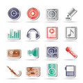 Music and sound icons Royalty Free Stock Photography