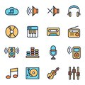 Music And Sound Icons Royalty Free Stock Photo