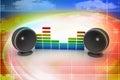 Music speaker Royalty Free Stock Photo