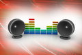 Music speaker in red color background Stock Images