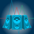 Music speakers vector this is file of eps format Stock Photo