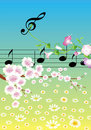 Music in Spring Royalty Free Stock Images