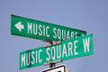Music Square Street Sign In Na...