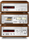 Music Stereo Audio Compact Cassette Deck with Amplifier and CD p Royalty Free Stock Photo