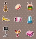 Music stickers Royalty Free Stock Images