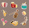 Music stickers Royalty Free Stock Image
