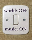 Music switch Royalty Free Stock Photo