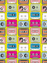 Music tape seamless Royalty Free Stock Image