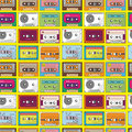 Music tape seamless pattern Stock Photography