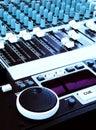 Music technology - DJ Sound mixer console Royalty Free Stock Image