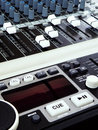 Music technology - equalizers & mixers Royalty Free Stock Image