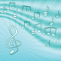 Music. Treble clef and notes. Royalty Free Stock Images