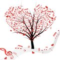 Music tree. Royalty Free Stock Image