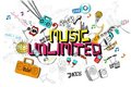 Music Unlimited Stock Image