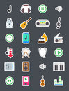 Music vector icons set
