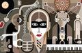 Music - vector illustration Royalty Free Stock Photo
