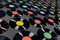 Music - Vinyl records Royalty Free Stock Photo