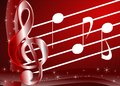 Musical background an abstract illustration with treble clef and notes a nice usable not only for project about music but for Stock Image