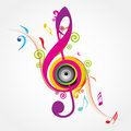 Musical Background with fly clefs