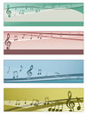 Musical banners Royalty Free Stock Photo