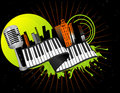 Musical city vector Royalty Free Stock Photography