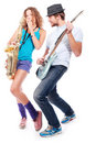 Musical couple Royalty Free Stock Photo