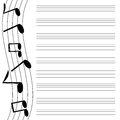 Musical design black music on white background music books Stock Image