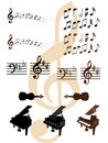Musical design elements Stock Photos