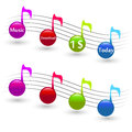 Musical element elements great for web print or presentation Stock Image
