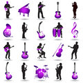 Musical elements illustration Royalty Free Stock Photography