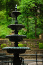 Musical falling water - cast iron fountain Royalty Free Stock Photo