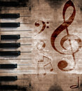 Musical grunge background Stock Photos