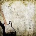 Musical grunge background Royalty Free Stock Photo