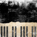 Musical grunge background with scratches Royalty Free Stock Photography