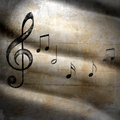 Musical grunge background with scratches Stock Photo