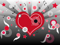 Musical heart Royalty Free Stock Images